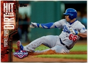 2015 Topps Opening Day Hit the Dirt #HTD12 Yasiel Puig Baseball Card