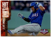 2015 Topps Opening Day Hit the Dirt #HTD13 Elvis Andrus Baseball Card