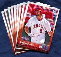 2015 Topps Opening Day Los Angeles Angels of Anaheim Baseball Cards Team Set