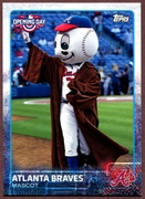 2015 Topps Opening Day Mascots #M02 Atlanta Braves Baseball Card