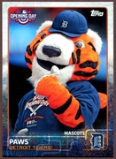 2015 Topps Opening Day Mascots #M11 Paws Baseball Card