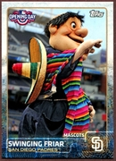 2015 Topps Opening Day Mascots #M20 Swinging Friar Baseball Card