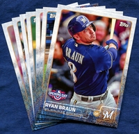 2015 Topps Opening Day Milwaukee Brewers Baseball Cards Team Set
