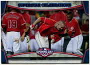 2015 Topps Opening Day Superstar Celebrations #SC01 Mike Trout Baseball Card