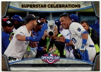 2015 Topps Opening Day Superstar Celebrations #SC03 Salvador Perez Baseball Card