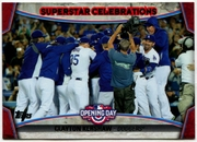 2015 Topps Opening Day Superstar Celebrations #SC09 Clayton Kershaw Baseball Card