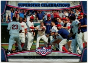 2015 Topps Opening Day Superstar Celebrations #SC17 Michael Brantley Baseball Card