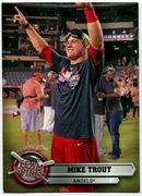 2015 Topps Opening Day Team Spirit #TS01 Mike Trout Baseball Card