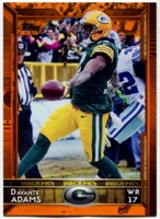 2015 Topps Orange #218 Davante Adams Football Card - 04/75