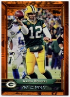 2015 Topps Orange #303 Aaron Rodgers MVP Football Card - 63/75