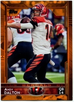 2015 Topps Orange #47 Andy Dalton Football Card - 33/75