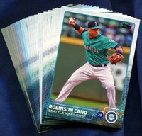 2015 Topps Seattle Mariners Baseball Cards Team Set