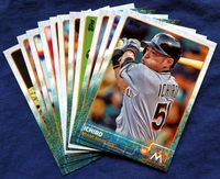 2015 Topps Update Miami Marlins Baseball Cards Team Set