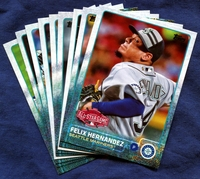 2015 Topps Update Seattle Mariners Baseball Cards Team Set