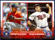 2015 Topps Update #US258 Vincent Velasquez RC & Ryan O'Rourke RC Baseball Card