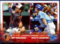 2015 Topps Update #US298 Rey Navarro RC & Dusty Coleman RC Baseball Card
