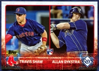 2015 Topps Update #US41 Travis Shaw RC & Allan Dykstra RC Baseball Card