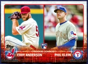 2015 Topps Update #US52 Cody Anderson RC & Phil Klein RC Baseball Card