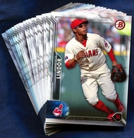 2016 Bowman & Prospects Cleveland Indians Baseball Card Team Set