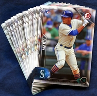 2016 Bowman & Prospects Seattle Mariners Baseball Card Team Set