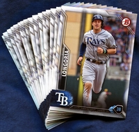 2016 Bowman & Prospects Tampa Bay Rays Baseball Card Team Set