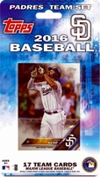 2016 San Diego Padres Topps MLB Factory Baseball Cards Team Set