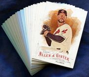 2016 Topps Allen and Ginter Cleveland Indians Baseball Card Singles