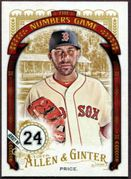 2016 Topps Allen and Ginter The Numbers Game #NG14 David Price Baseball Card -  Boston Red Sox