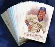 2016 Topps Allen and Ginter Milwaukee Brewers Baseball Card Singles
