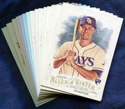 2016 Topps Allen and Ginter Tampa Bay Rays Baseball Card Singles