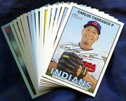 2016 Topps Heritage Cleveland Indians Baseball Card Singles