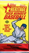 2016 Topps Heritage High Number Series Baseball Cards Hobby Pack