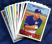 2016 Topps Heritage Milwaukee Brewers Baseball Card Singles