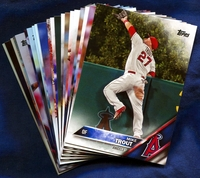 2016 Topps Los Angeles Angels of Anaheim Baseball Cards Team Set