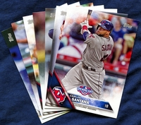 2016 Topps Opening Day Cleveland Indians Baseball Cards Team Set