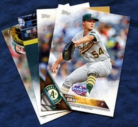 2016 Topps Opening Day Oakland Athletics A's Baseball Cards Team Set
