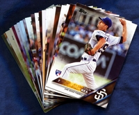 2016 Topps San Diego Padres Baseball Cards Team Set