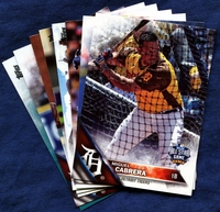 2016 Topps Update Detroit Tigers Baseball Cards Team Set