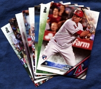 2016 Topps Update Los Angeles Angels of Anaheim Baseball Cards Team Set
