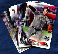 2016 Topps Update Miami Marlins Baseball Cards Team Set