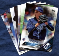 2016 Topps Update Tampa Bay Rays Baseball Cards Team Set