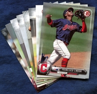 2017 Bowman & Prospects Cleveland Indians Baseball Card Team Set