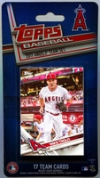 2017 Los Angeles Angels Topps MLB Factory Baseball Cards Team Set