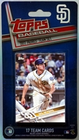 2017 San Diego Padres Topps MLB Factory Baseball Cards Team Set