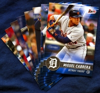 2017 Topps Bunt Detroit Tigers Baseball Card Team Set