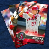 2017 Topps Bunt Los Angeles Angels Baseball Card Team Set