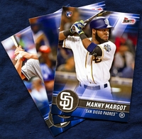 2017 Topps Bunt San Diego Padres Baseball Card Team Set