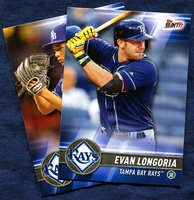 2017 Topps Bunt Tampa Bay Rays Baseball Card Team Set