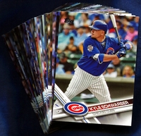 2017 Topps Chicago Cubs Baseball Cards Team Set