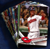 2017 Topps Cleveland Indians Baseball Cards Team Set